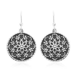 Bali 925 SS floral earrings